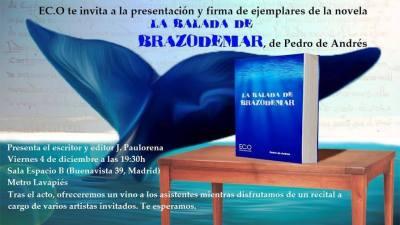 Invitación a la presentación en Madrid